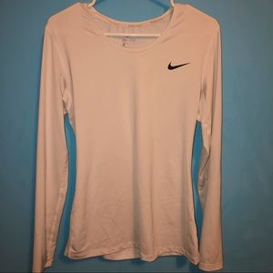 Nike Dri-Fit White Long Sleeve Shirt